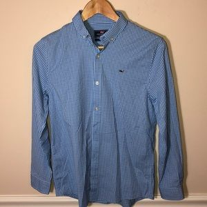 Vineyard Vines Whale Shirt Boys 16 Blue